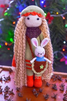 Toys by Alla Chernous: Dolly - using lalylala pattern - such a cute alteration.  love it!  inspiration only