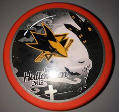 Make sure to get your #SJSharks Halloween puck! Available at the Sharks Store at SAP Center. $10