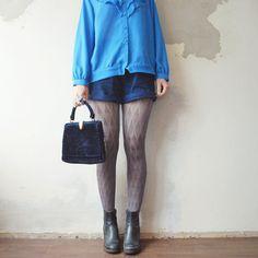 Blue VELVET purse. Art Deco handbag with by retrospectrovintage, $45.00