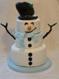 Frosty the Snow Man Cake..
