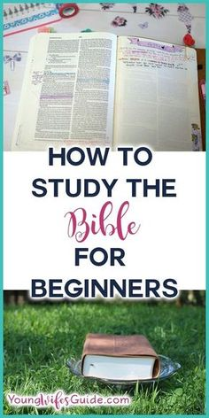 """Over the past few weeks, I've been receiving email after email from women who are wondering how to begin studying the Bible. I share a lot of Bible study resources on my blog, but a few weeks ago I shared an episode on """"Does my quiet time need to be first thing in the morning?""""... Read More Bible Study Plans, Bible Study Notebook, Bible Study Guide, Bible Study Journal, Scripture Study, Beginner Bible Study, Bible Plan, Bible Prayers, Bible Scriptures"""