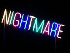 Nightmare neon, 2006 by artist Olivier Kosta-Thefaine