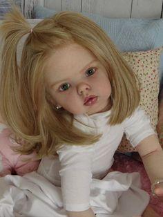 Nina, reborn doll by Ruth Aguilar from Le Ruban Rose nursery