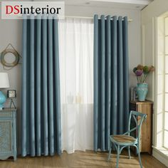Cheap curtain ball, Buy Quality blackout curtain lining directly from China blackout curtain lining fabric Suppliers: DSinterior modern style solid color faux plain linen Blackout curtain for living room window custom made