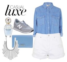 """""""casual luxe bluez"""" by ntinamarkou on Polyvore"""