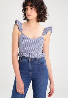 New look blusa - blue - zalando. Casual Dresses For Women, Short Dresses, Casual Outfits, Fashion Outfits, Dresscode, Beach Wear Dresses, Moda Vintage, Luxury Dress, Two Piece Outfit