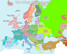 This Christmassy Map Shows All The Different Names For Santa In Europe