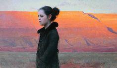 Jeremy Lipking  Desert Solitude  22x38 inches, oil
