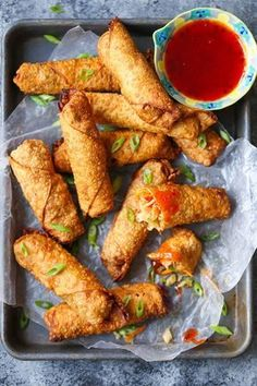 These shrimp egg rolls were surprisingly easy to make and came out so delicious! These shrimp egg rolls were surprisingly easy to make and came out so delicious! Seafood Recipes, Appetizer Recipes, Cooking Recipes, Delicious Appetizers, Kitchen Recipes, Beef Recipes, Cooking Tips, Shrimp Egg Rolls, Fingers Food