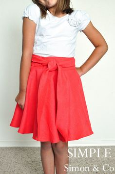 Make a circle wrap skirt for any size!  Free tutorial.