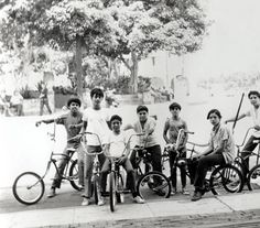 This image of young Latino boys with their bicycles made its way into the personal papers of Julian Nava, along with several other photographs depicting everyday life. Julian Nava Collection.