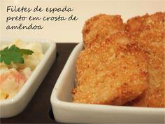 Filetes de espada preto em crosta de amêndoa / Black scabbardfish fillets in almond crust