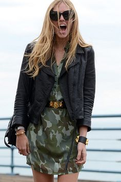 Street Style... Love the jacket! Hermes CDC bracelet nice too...