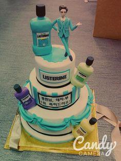 kuenya lucu! ^^ kayak kue ulang tahun listerin >< XD