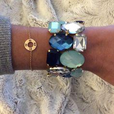 "Spotted while shopping on Poshmark: ""Stretch crystal gem statement bracelet""! #poshmark #fashion #shopping #style #Jewelry"