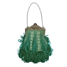 1stdibs | 1920s Beaded Frame Evening Bag in Turquoise Beads