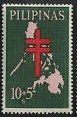 1963, August 19. Map of the Philippines - Anti-TB Semi-Postal 10s+5s - Singles, Sheets of 50