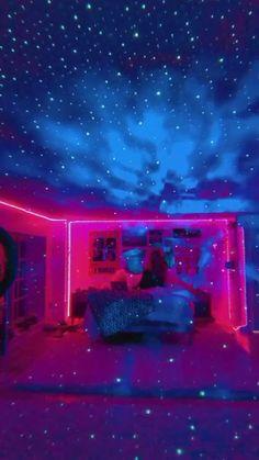 Neon Bedroom, Room Design Bedroom, Room Ideas Bedroom, Girls Bedroom, Bedroom Decor, Bedroom Designs, Dream Teen Bedrooms, Bedroom Inspo, Dream Bedroom
