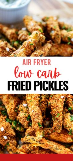 Fried Pickles without the carbs? Count me in! This Almond Flour Coated Fried Pickles is every bit as good as the original. Crispy goodness will keep you coming back for more. Low Carb Appetizers, Party Appetizers, Appetizers For Party, Appetizer Recipes, Snack Recipes, Easy Healthy Recipes, Low Carb Recipes, Healthy Snacks, Keto Snacks