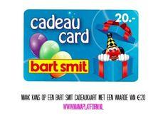 Win   Maak kans op een €20 cadeaukaart van Bart Smit