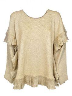 LANVIN Lanvin Loose Ruffled Hem Blouse. #lanvin #cloth #sweaters