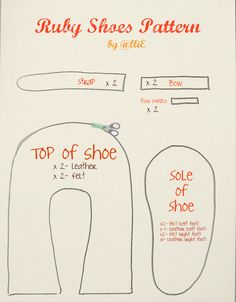 baby shoes patterns free | Right click on the image to save, and print on an 8x11 page to get ...