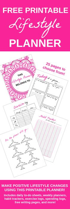This positive lifestyle planner will help you to stay organized, track your progress, and hold yourself accountable. It includes 25 pages to choose from. {newsletter subscription required}