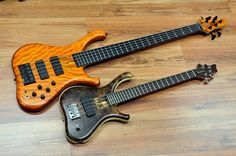 Marleaux 5 string & 4 string, (short scale) basses