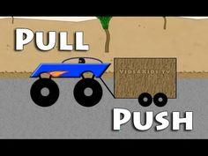 ▶ Vids4kids.tv - Learn Opposites Pull And Push - Monster truck And Bulldozer - YouTube