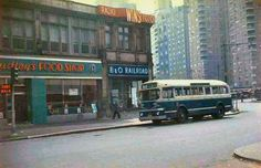 Looking Southeast Towards The B & O Waiting Room On 60th Street & Broadway, 1958.