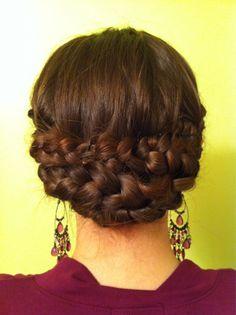 My braided updo (pre bobby-pin tweak) - LM