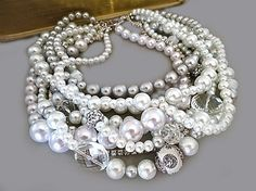 Hey, I found this really awesome Etsy listing at https://www.etsy.com/listing/170631909/pearl-statement-necklace-chunky-bridal