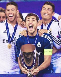 Real Madrid. Ramos, Casillas, and Ronaldo