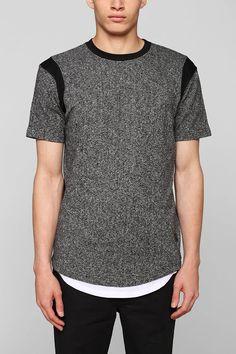 UNYFORME Short-Sleeve Speckled Pullover Sweatshirt