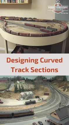 Watch as Layout Designer Doug Gurin provides some expert considerations for planning a model railroad layout, specifically designing curved track sections. Ho Trains, Model Trains, Model Railway Track Plans, Garden Railroad, Passenger Aircraft, Model Train Layouts, Train Tracks, Plan Design, Scenery
