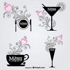 Food and dring decorative graphic elements