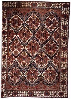 "Alberto Levi Gallery  Bakhtiari Main Carpet West Persia Chahar Mahal valley Circa 1890 588 x 430 cm (19'4"" x 14'1"")"