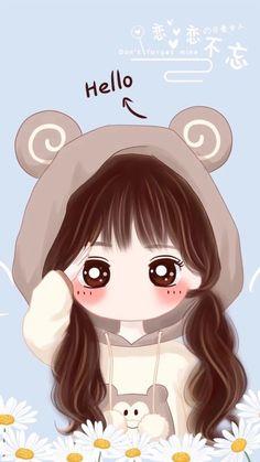 Wallpaper Kawaii Girl Elegant Art Drawing And Little Princess In 2019 Of Wallpaper Kawaii Girl Anime Chibi, Kawaii Anime, Kawaii Chibi, Cute Chibi, Cartoon Kunst, Cartoon Art, Kawaii Drawings, Cute Drawings, Cute Kawaii Girl