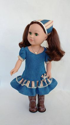 Doll clothes for 18 inch dolls fits doll similar to American