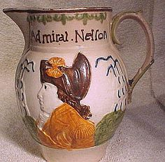 PRATTWARE LORD NELSON and CAPT. BERRY JUG c1798-1806
