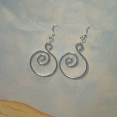 Aluminum wire earrings by ABeadRun on Etsy 1000 A Bead Run