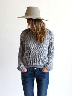 Kieley Kimmel Lace Stitch Pullover - Canvas