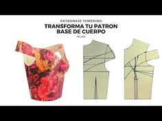 Transforma tu patron base de cuerpo/FELLER - YouTube Coat Patterns, Clothing Patterns, Dress Patterns, Sewing Lessons, Sewing Hacks, Sewing Projects, Wedding Dress Sewing Patterns, African Lace Dresses, Pattern Drafting