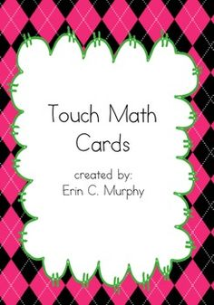 Touch Math Counting Cards