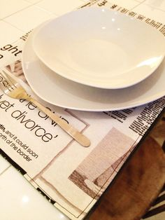Fabric Newspaper Placemat by Freinch on Etsy