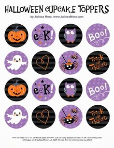 tons of cupcake toppers for halloween  We Love to Illustrate: Search results for cupcake