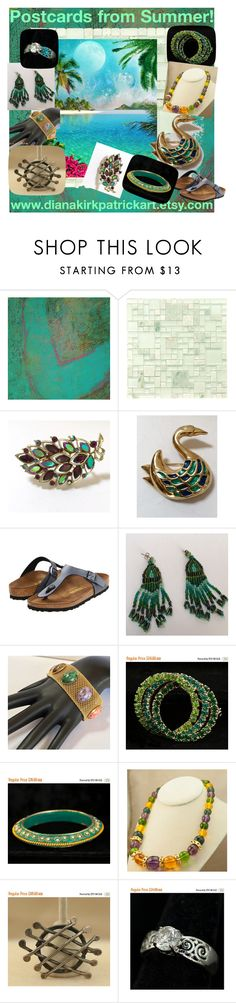 """Postcards from Summer"" by diana-32 on Polyvore featuring Aryana Londir, Merola, Birkenstock, Sarah Coventry and vintage"