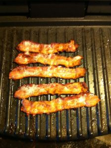 Bacon on George Foreman grill