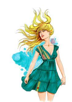 Desigual Dress Inspiration by Jessica Guarnido