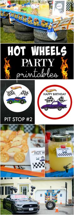 Do you always struggle to find the perfect birthday party ideas for boys? Here is a good one:-) A fun Hot wheels party! Grab your FREE printables!